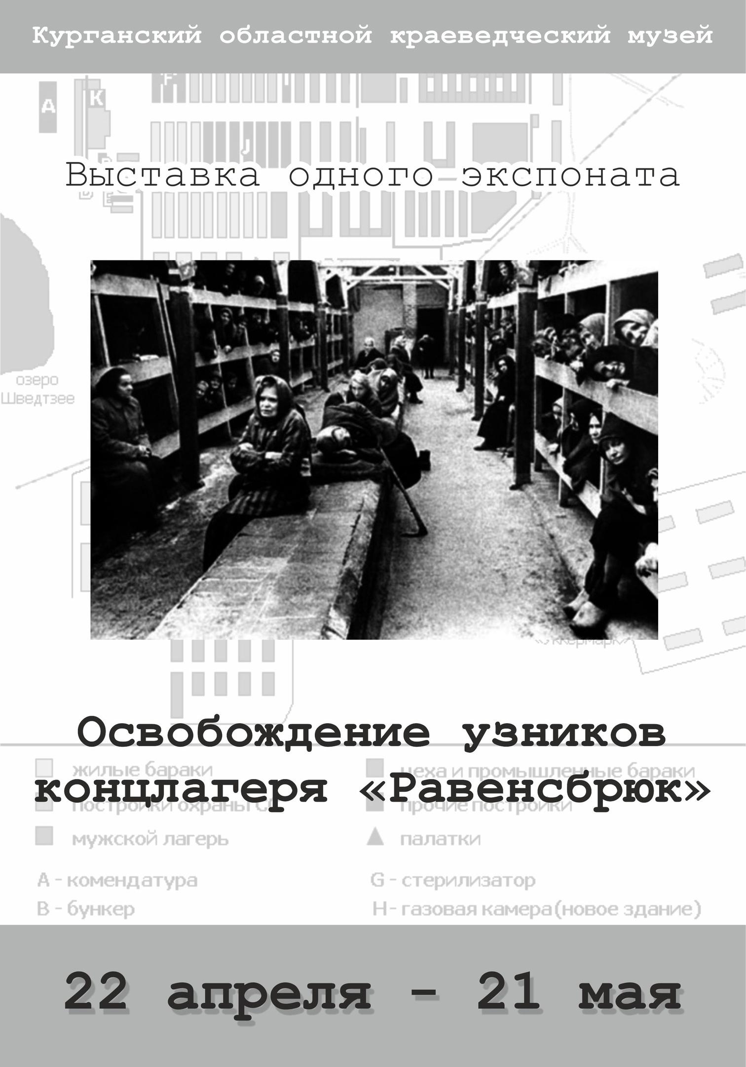 мероприятие Выставка одного экспоната «Освобождение узников концлагеря Равенсбрюк» курган афиша расписание